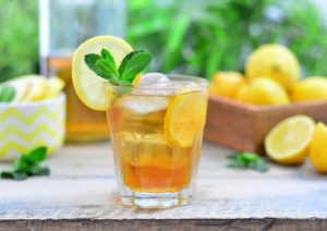 Glass of ice tea to promote National Ice Tea Month in June for branding