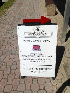 Brand marketing with sidewalk sign