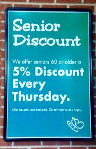 Branding Senior Discount Poster