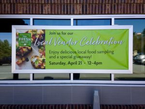 Banner promoting Local Vendor Celebration
