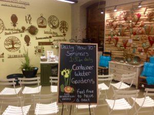 Blackboard promoting How to Garden Seminars to grow the Biltmore Brand