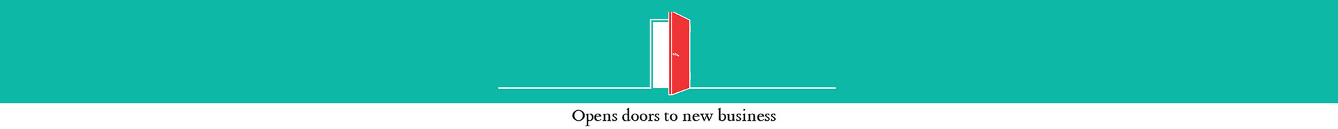 Open your doors to new business